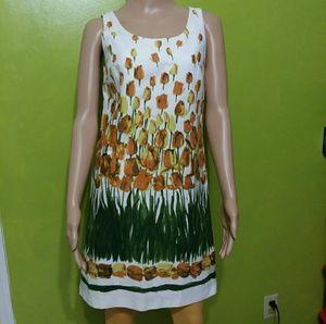 Anthropologie Anna Sui Bloom Sheath dress Sz 4